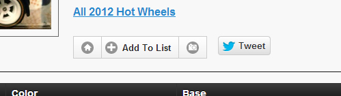HWCollecting.com - Toolbar for Hot Wheels Database